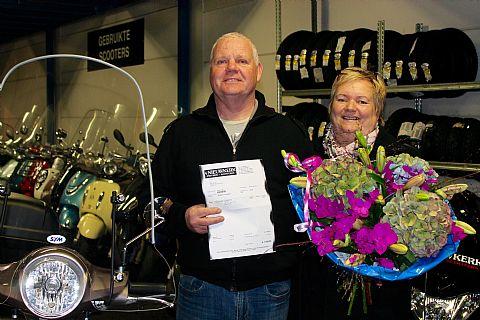 Echtpaar wint aankoopbedrag scooter terug!